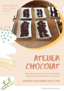 atelier dégustation chocolat - 5 octobre 2019 - au profit de Madaquatre