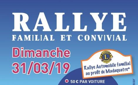 31-03 : Rallye familial au profit de Madaquatre