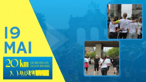 19 mai : soutenez Madaquatre aux 20km de Bruxelles
